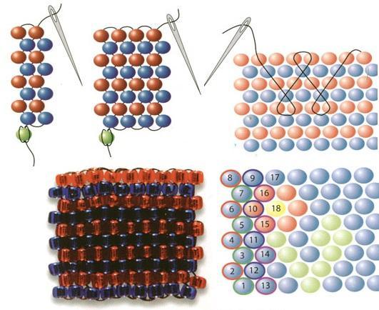 Схема мозаичного плетения