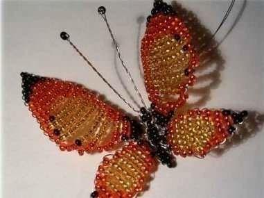 Бабочка из бисера