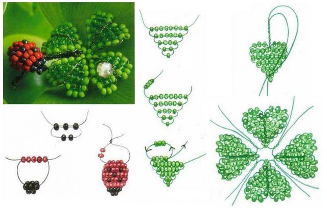 Схема параллельного плетенияклевера