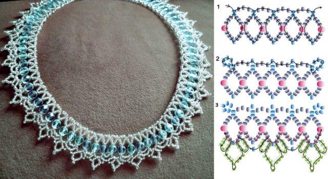 Схема плетения бус из бисера