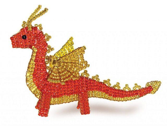 Параллельное плетение дракона из бисера