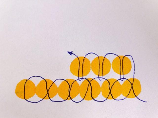 Схема кирпичного плетения из бисера