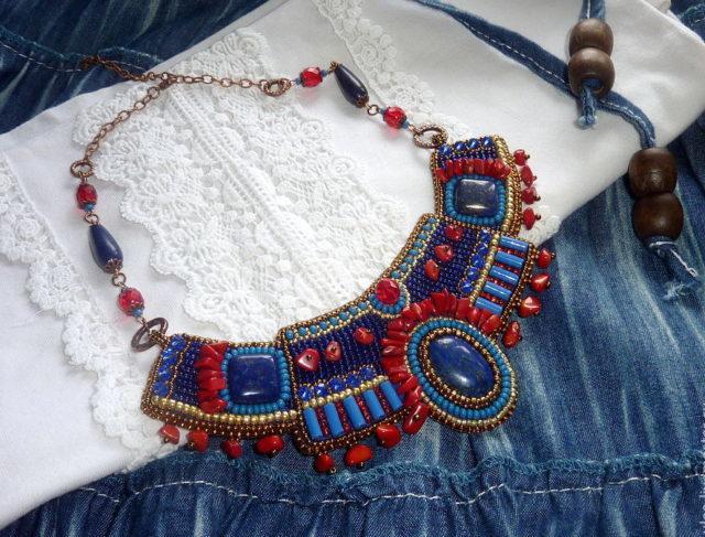 Этнический стиль ожерелья