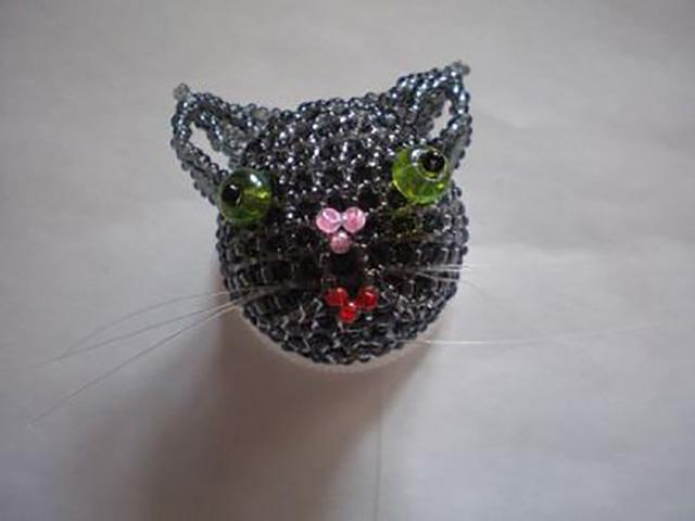 Плетение объемного кота