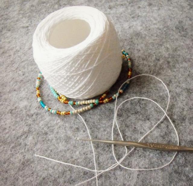 Плетение лариата крючком