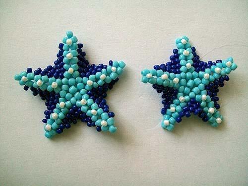 Морская звезда из бисера этапы работы