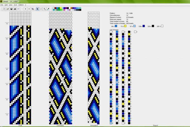 При плетении жгута, необходимо строго следовать схеме