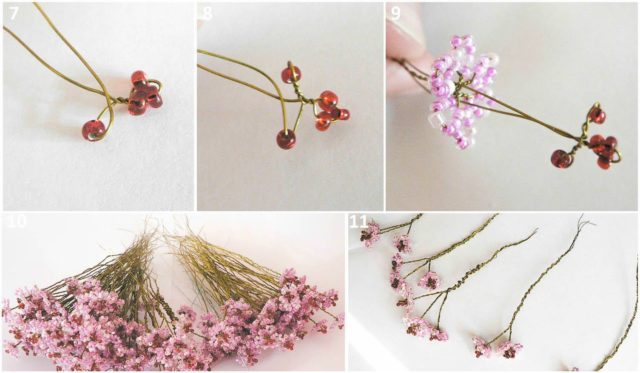 Плетение и скрепление веток сакуры