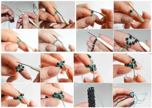 Английский способ вязания жгута крючком