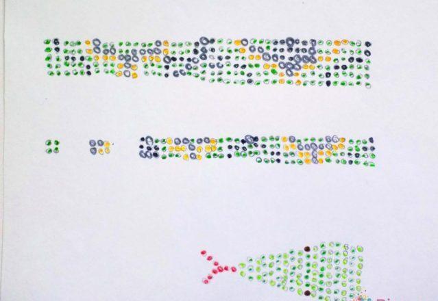 Схема плетения змеи