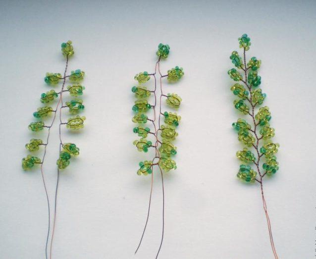 Плетение листиков для березы