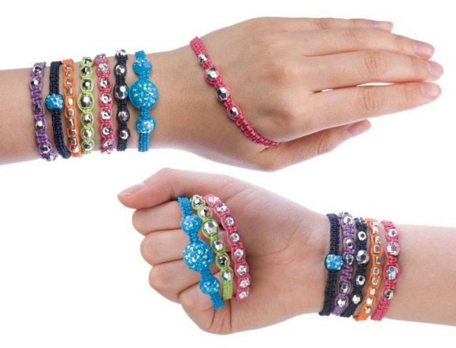 Разноцветный браслет Шамбала для детей