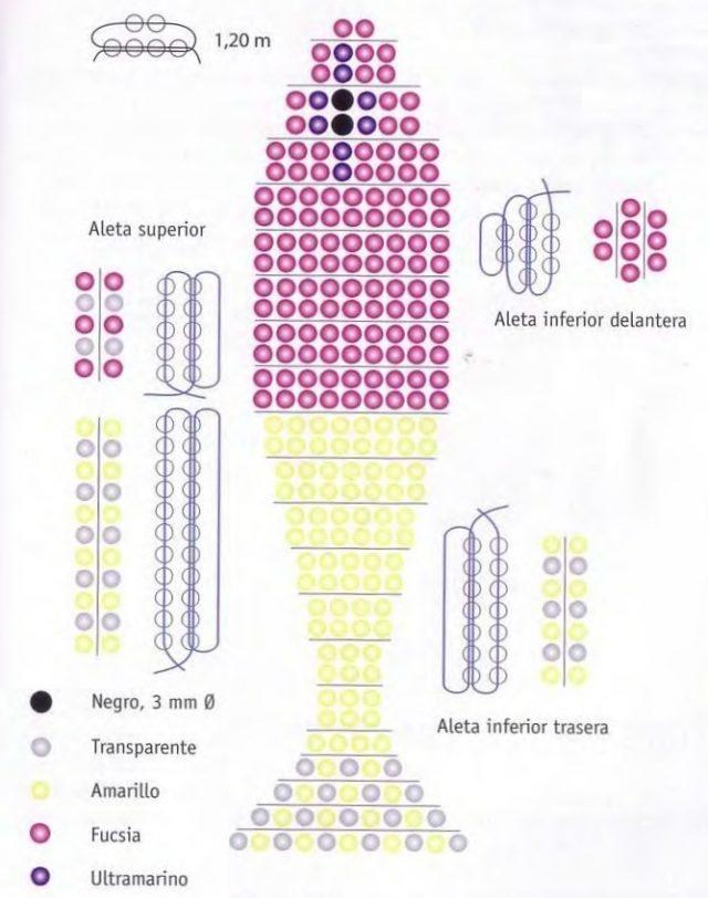 Схема карликового окуня из бисера