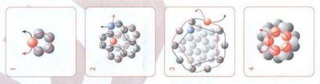 Схема плетения полой бусины