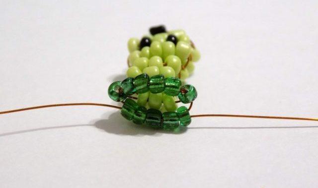 Плетение головы черепахи