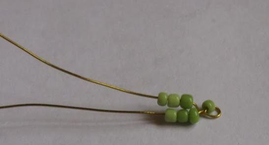 Плетение яблони из бисера