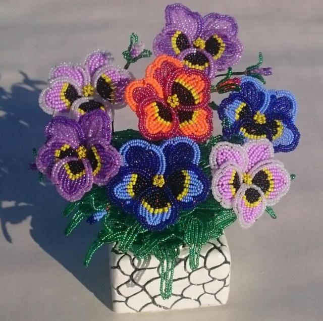 Французская техника плетения цветка