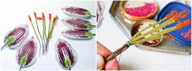 Плетем лилию из бисера