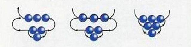 Схема плетения незабудки из бисера