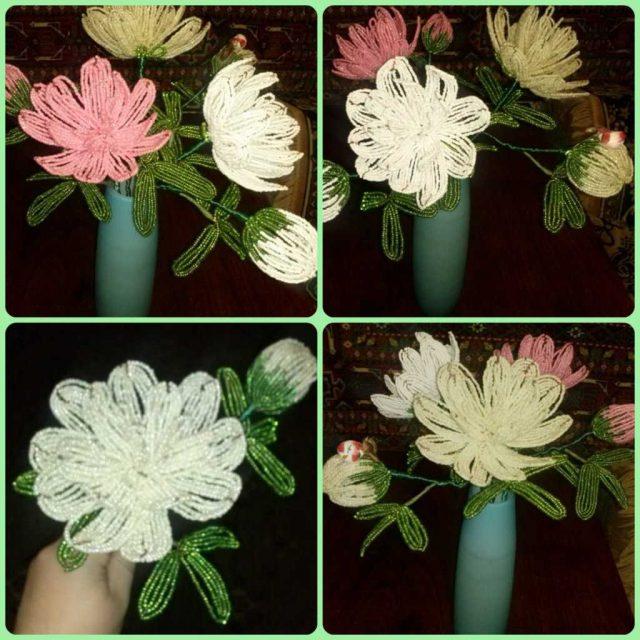 Формирование и сборка цветка