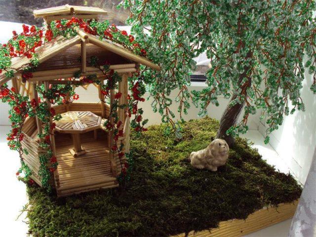 Декор плакучей ивы