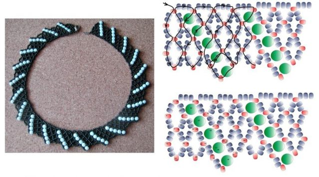 Ожерелье из бисера и бусин