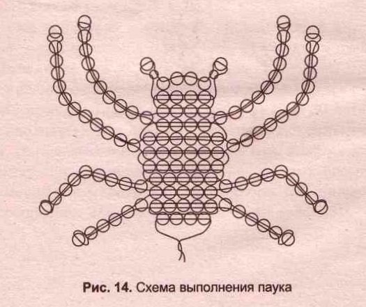 Схема плетения жукаиз бисера