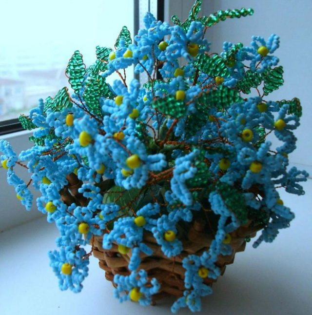 Цветок незабудка сделанная своими руками