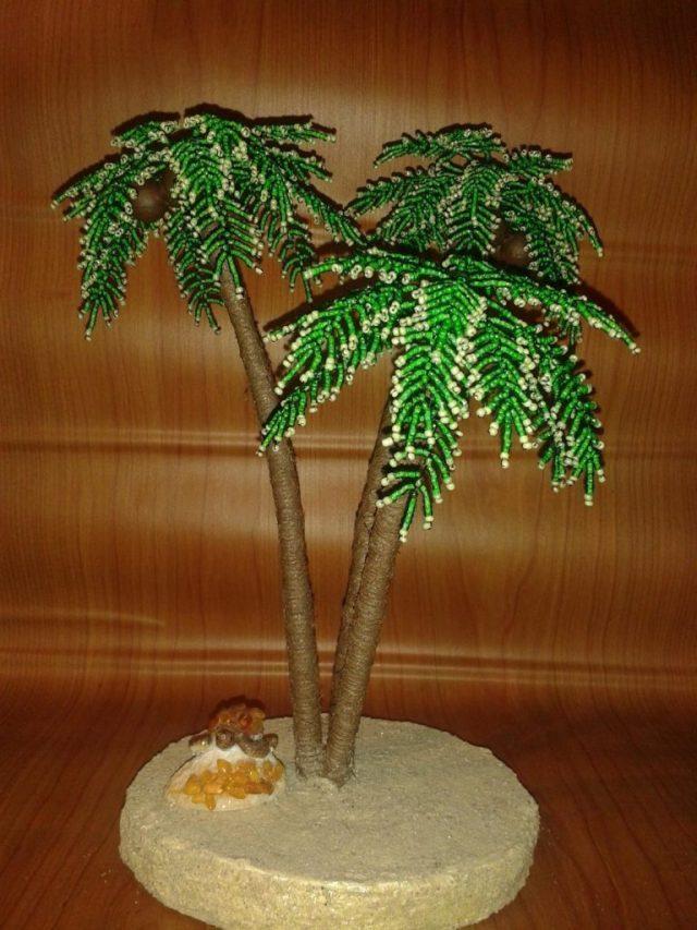 Пальма из бисера своими руками