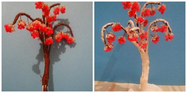 Формирование дерева рябины