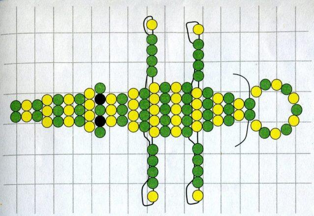 Схема плетения крокодила