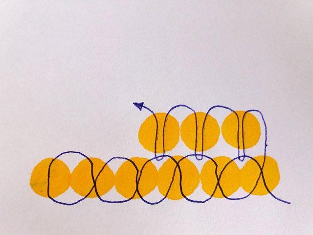 Кирпичная техника плетения