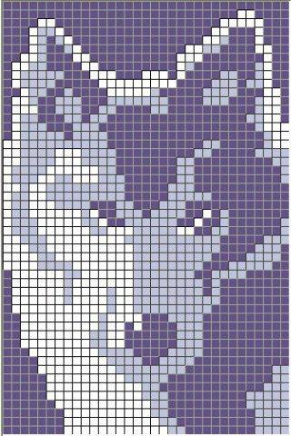 Схема вышивки волка