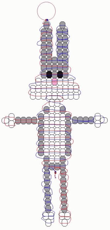 Заяц из бисера схема для начинающих