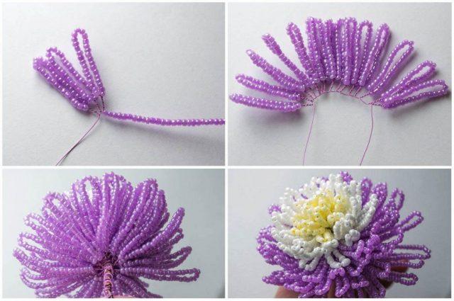 Схемы плетения цветов