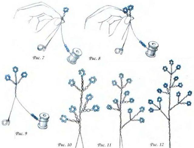 Схема плетения дерева