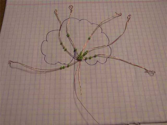 Мастер-класс плетения герани из бисера