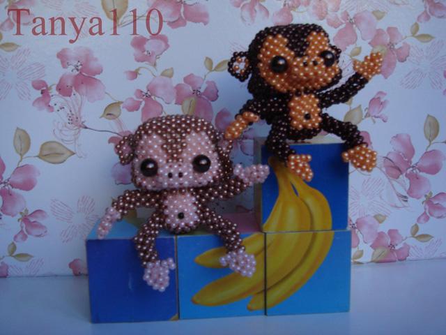 Виды и примеры оформления обезьянок из бисера