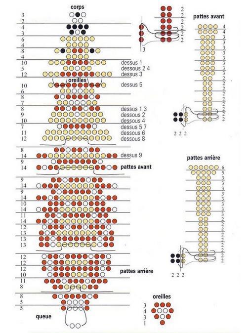Схемы плетения оленей из бисера