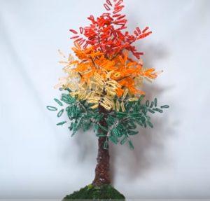 Как сплести осеннее дерево