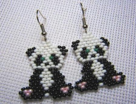 Панда в виде брелка