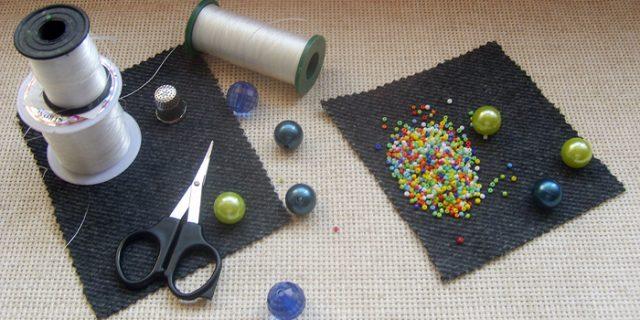 Материалы необходимые для плетения цветка