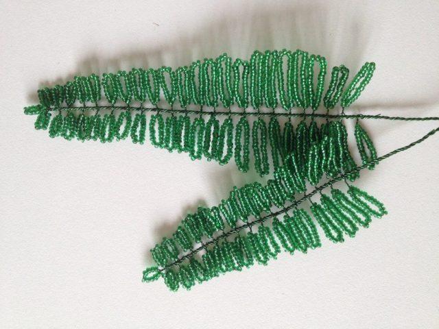 Плетем большие листки