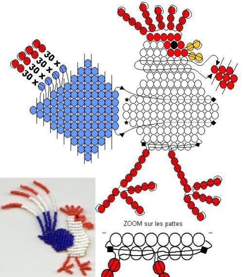 Схемы плетения петуха