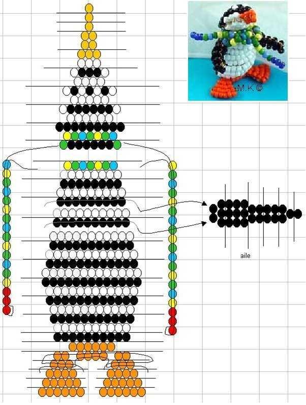Схема плетения пингвина