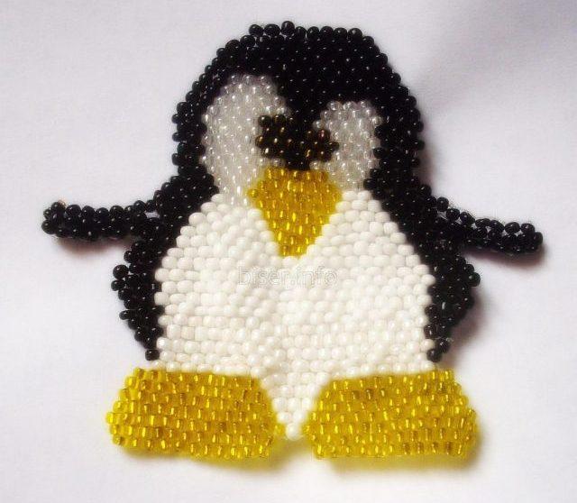 Пингвин из бисера
