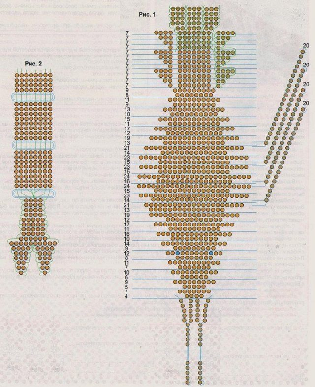 Схема для выполнения поделки