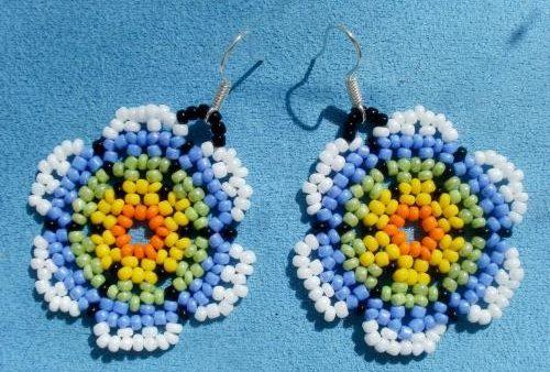 Схема плетения уичольских цветов