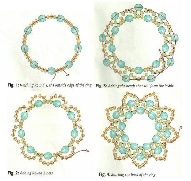 Вариант плетения кольца