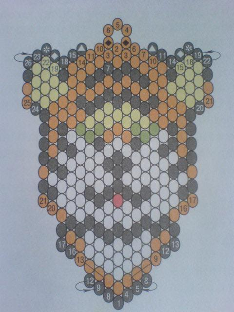 Схемы плетения тигра из бисера